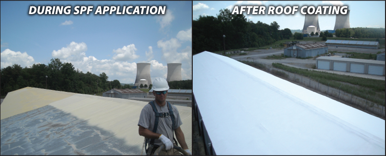 Foam Over Metal Roof Coating